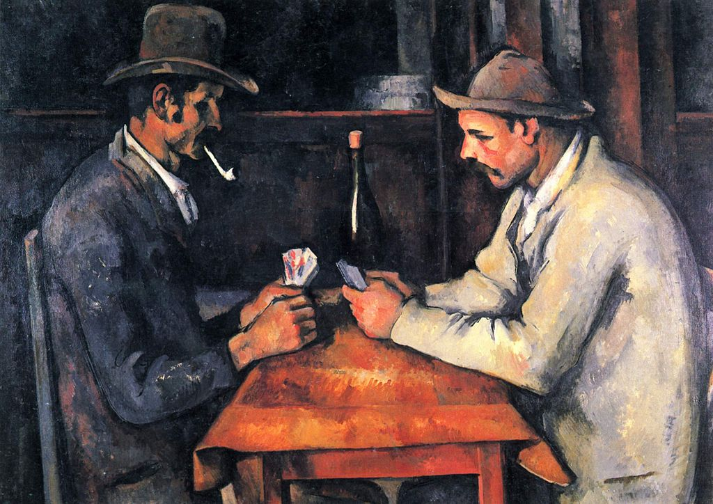 Los jugadores de naipes de Cezanne