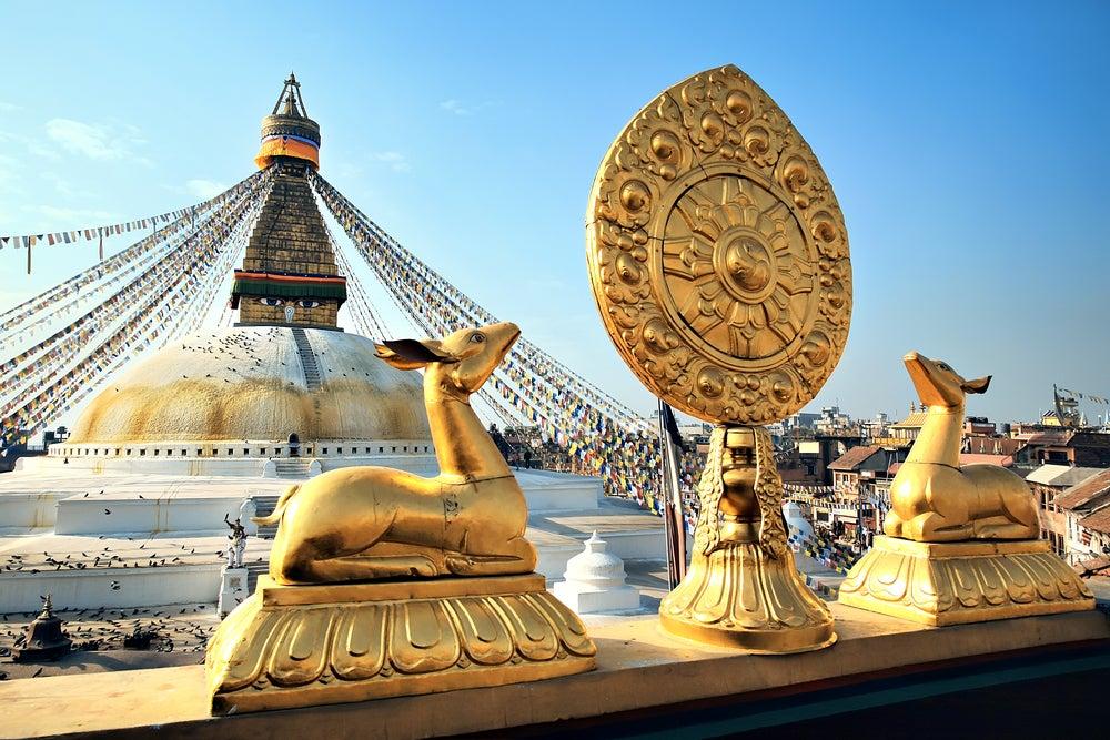 Estupa en Katmandú, capital de Nepal
