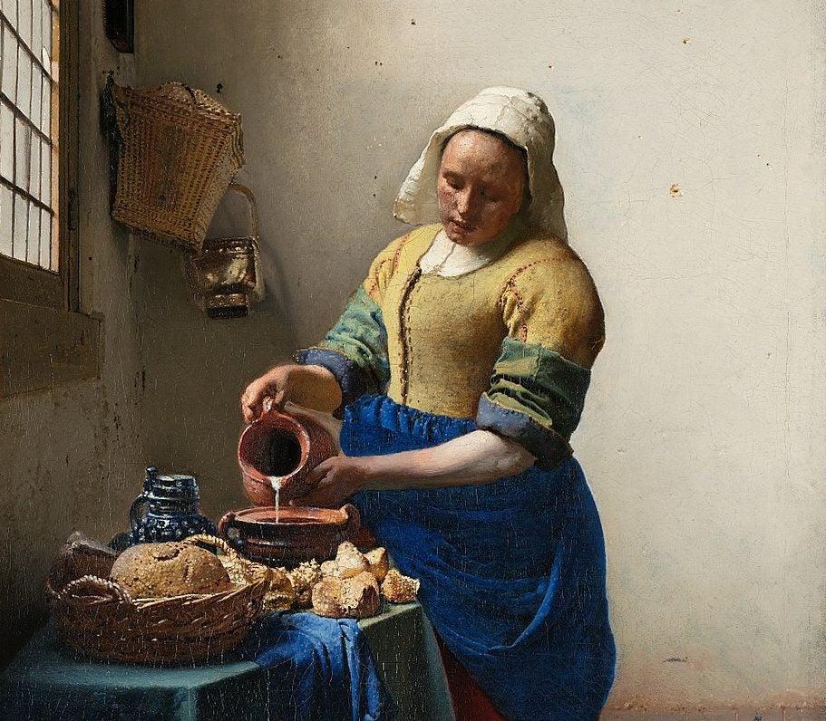 La lechera de Johannes Vermeer