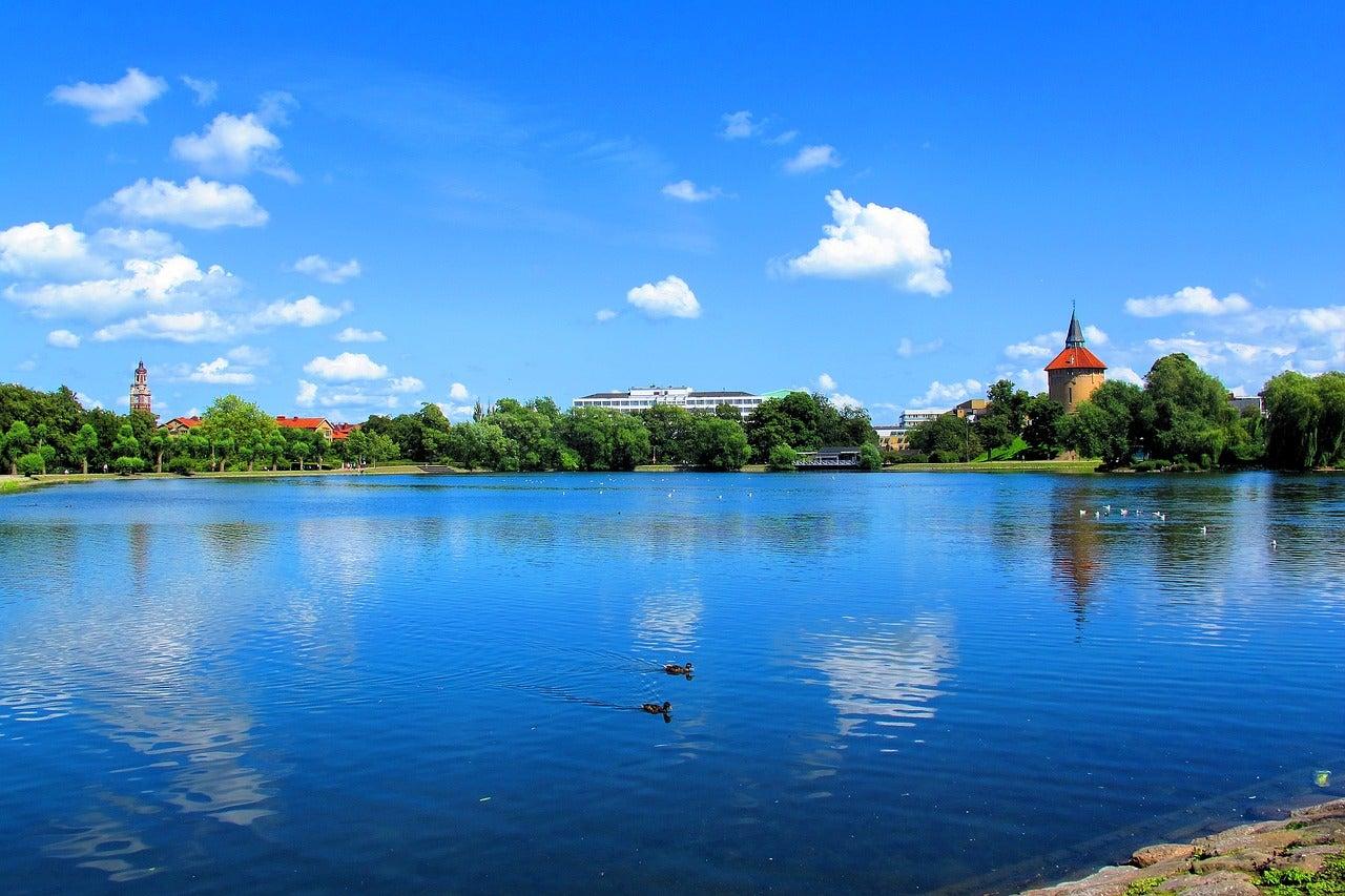 Lago en el Pildammsparken de Malmö