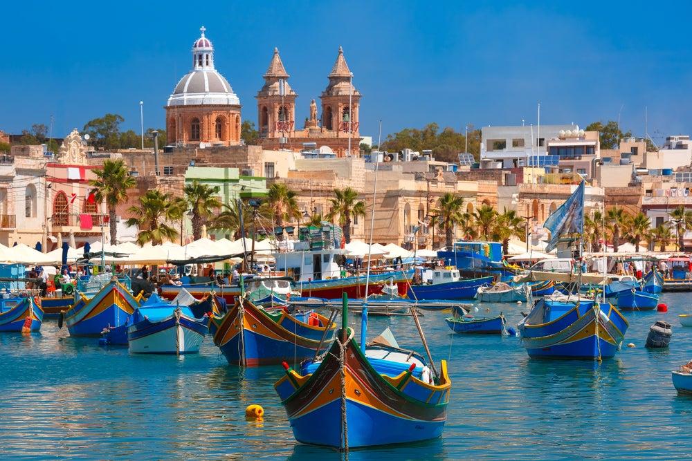 Marsaxlokk en el archipiélago de Malta