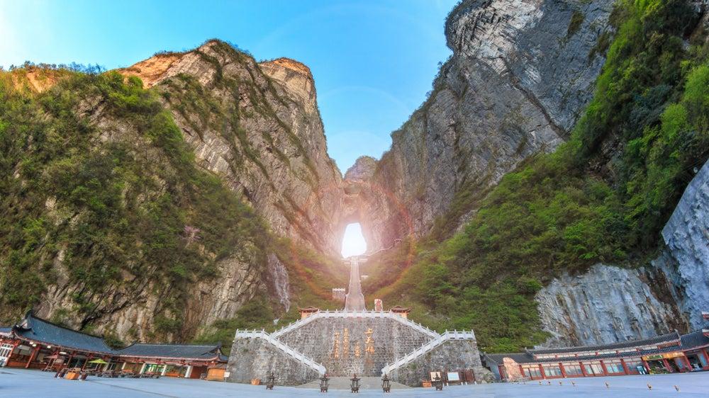 Montaña Tianmen en China