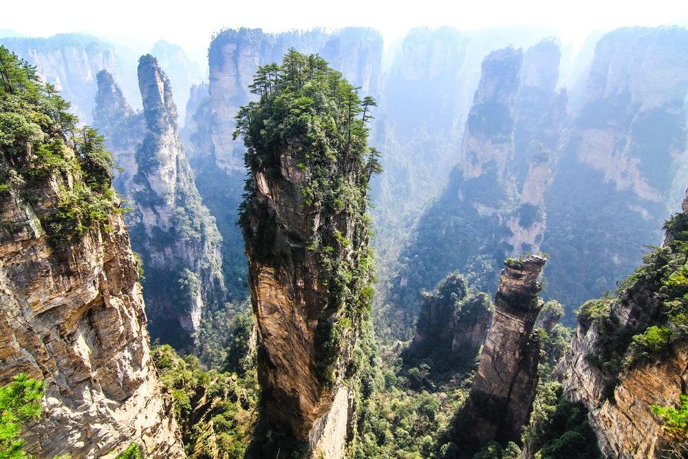 Las montañas de Tianzi en China: escenario de la película 'Avatar'