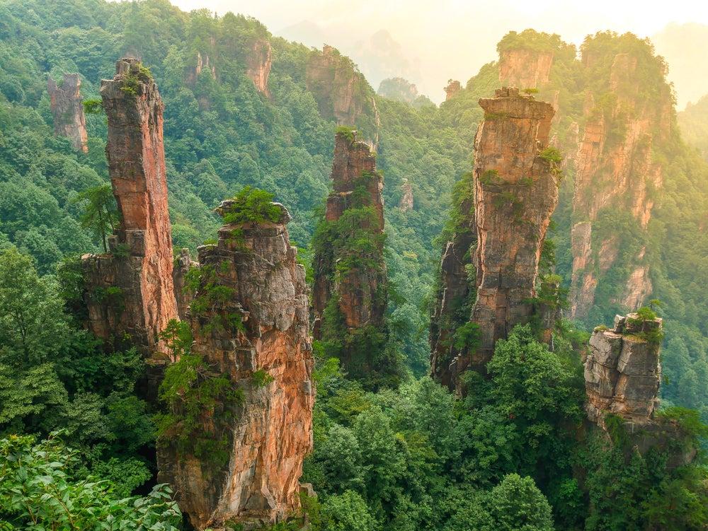 Montaña de Tianzi en China