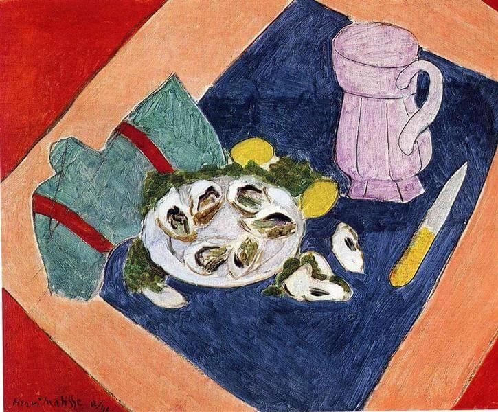 """Naturaleza muerta con ostras"" de Henry Matisse"