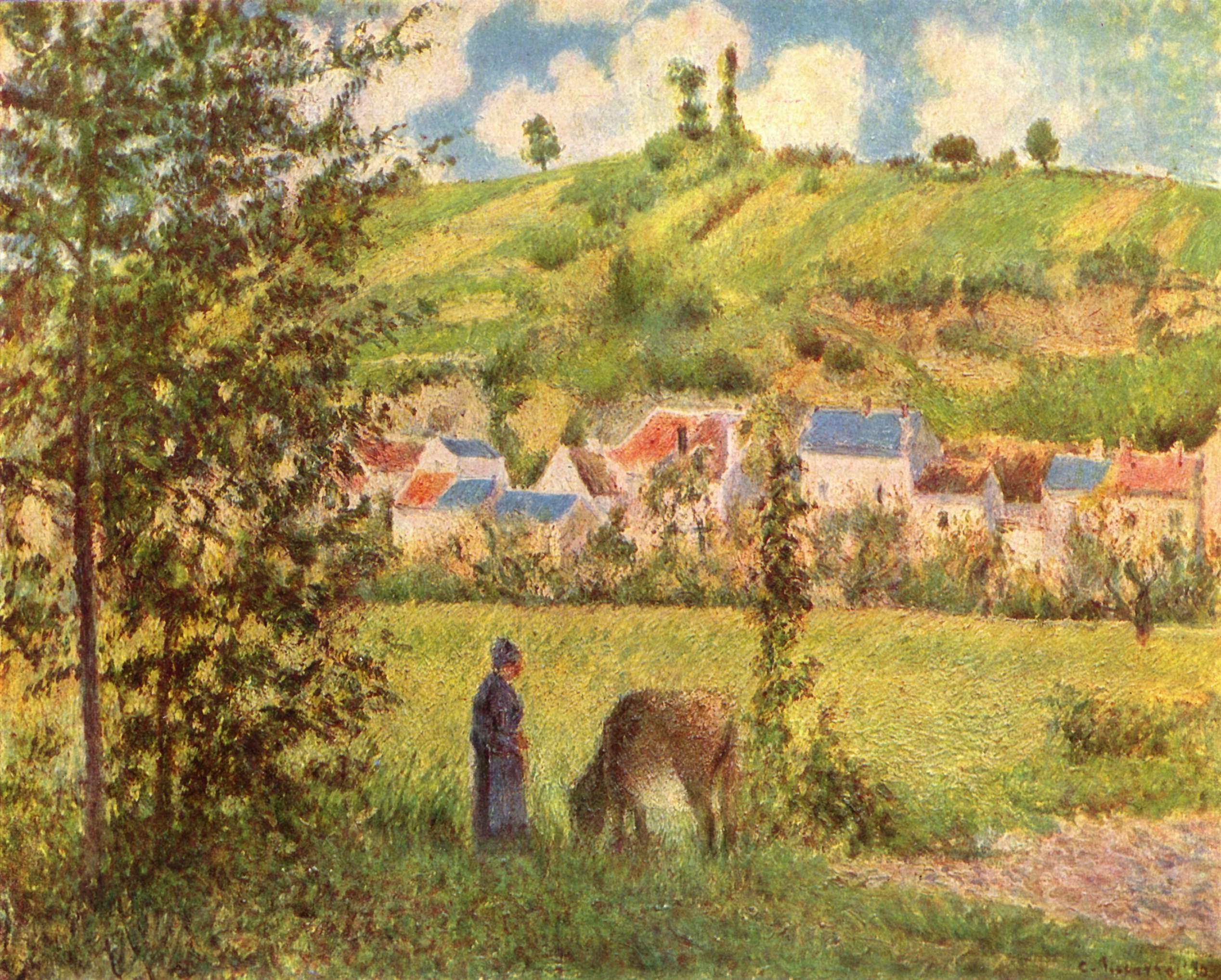 Paisaje en Chaponval de Camille Pissarro