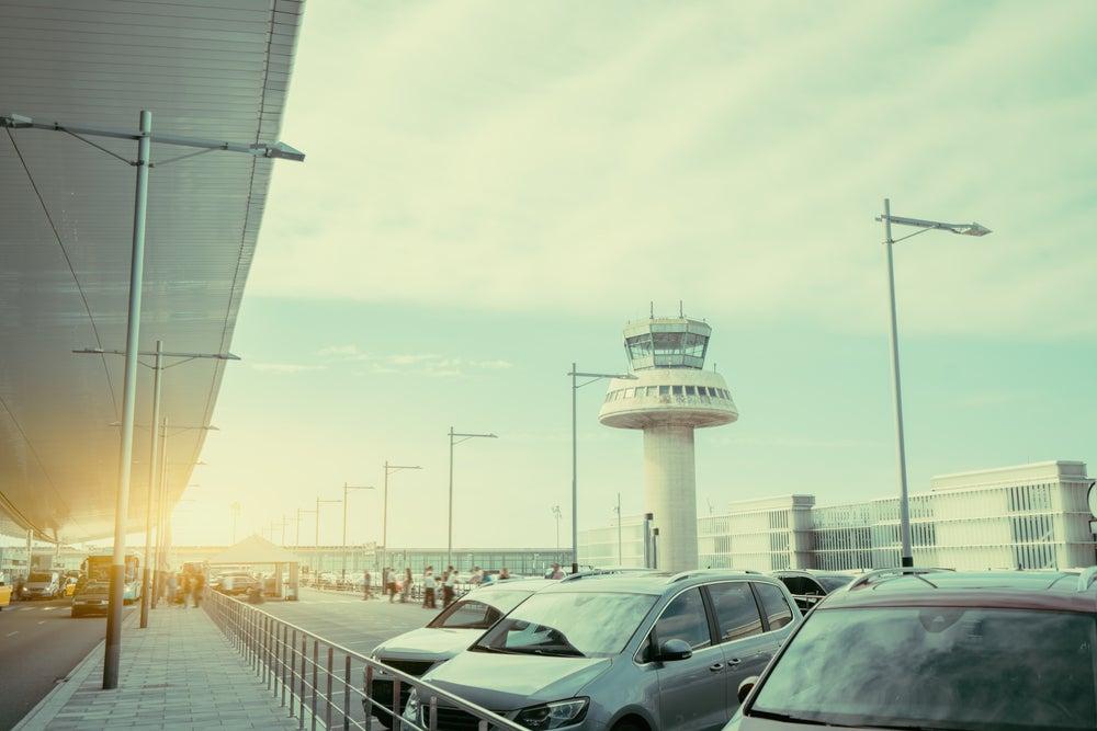 Parking en un aeropuerto