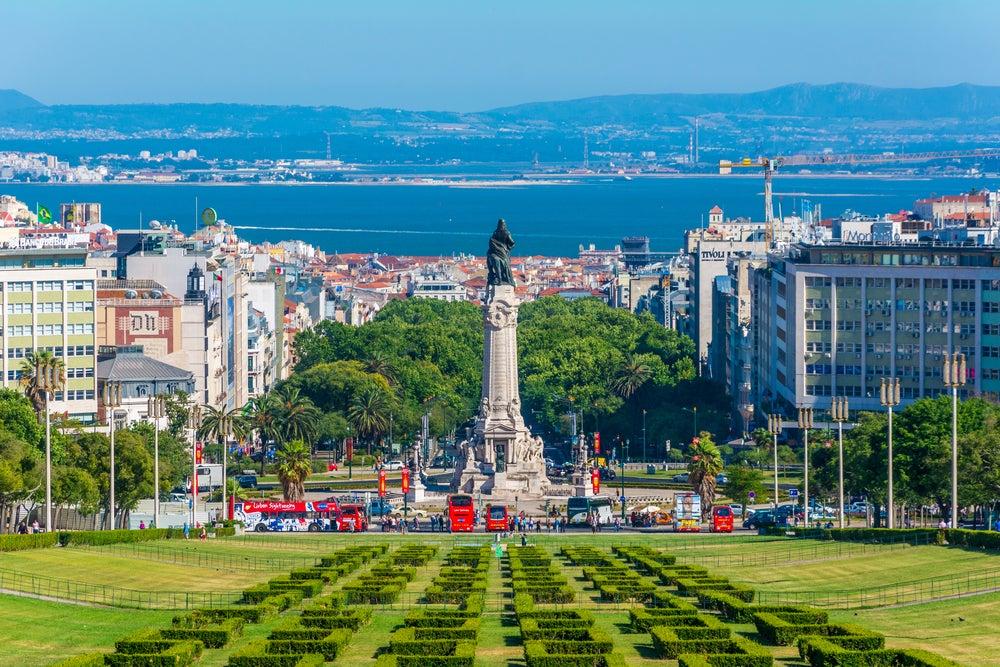 Vista de la Plaza del Marqués de Pombal