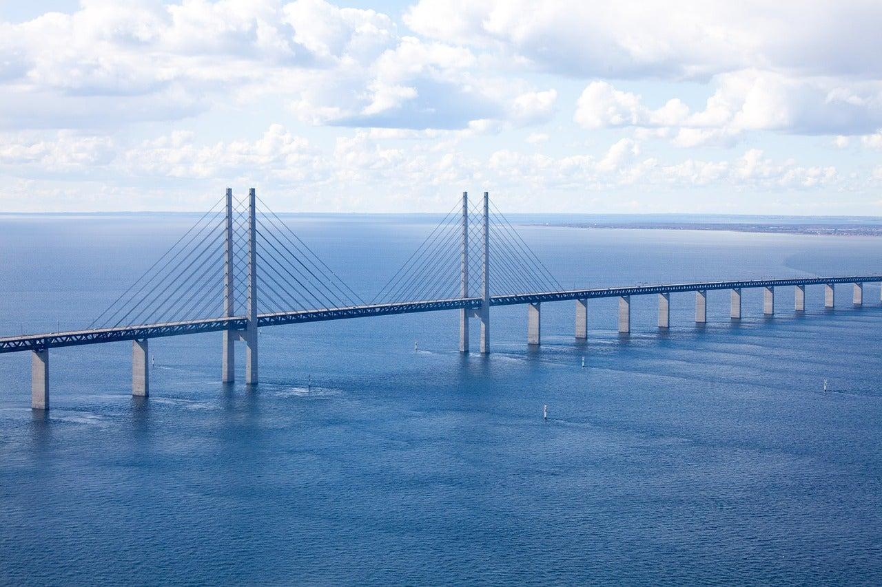 Puente de Öresund en la ciudad de Malmö