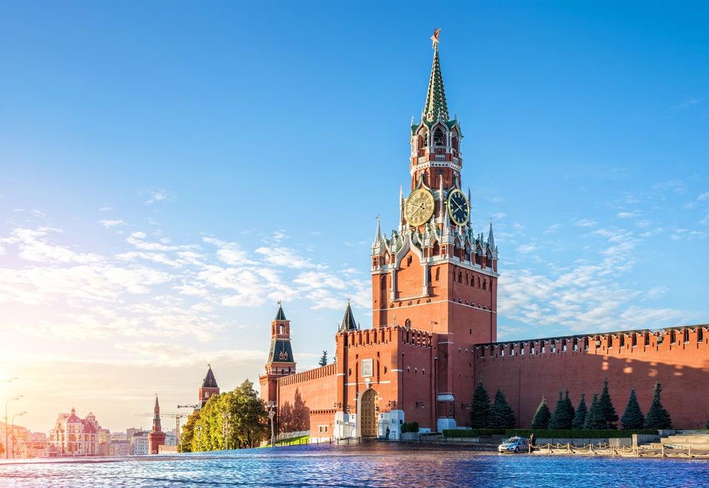 Reloj de la torre Spasskaya de Moscú