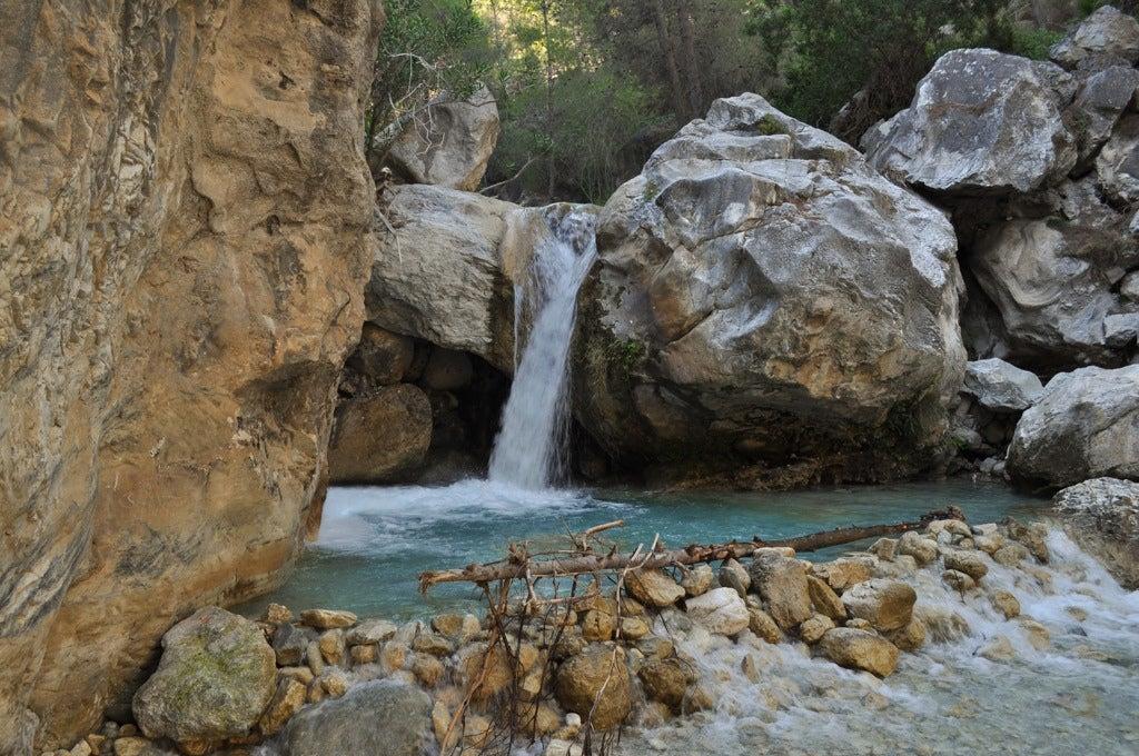 Piscina natural en el río Chíllar