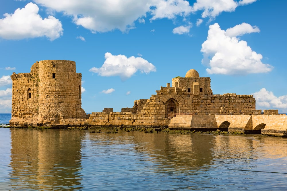 Castillo de Sidón en Saida, Líbano