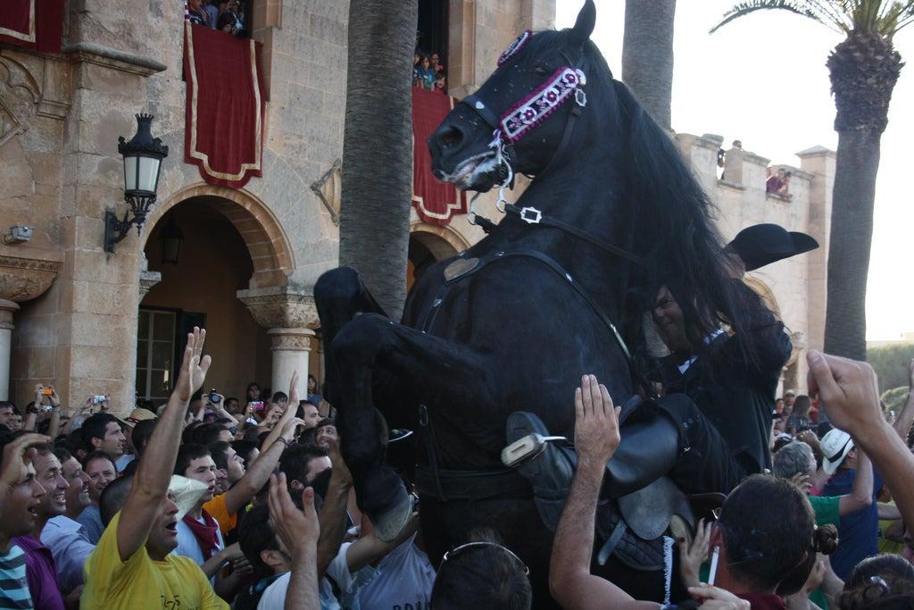 Fiesta de Sant Joan con caballos
