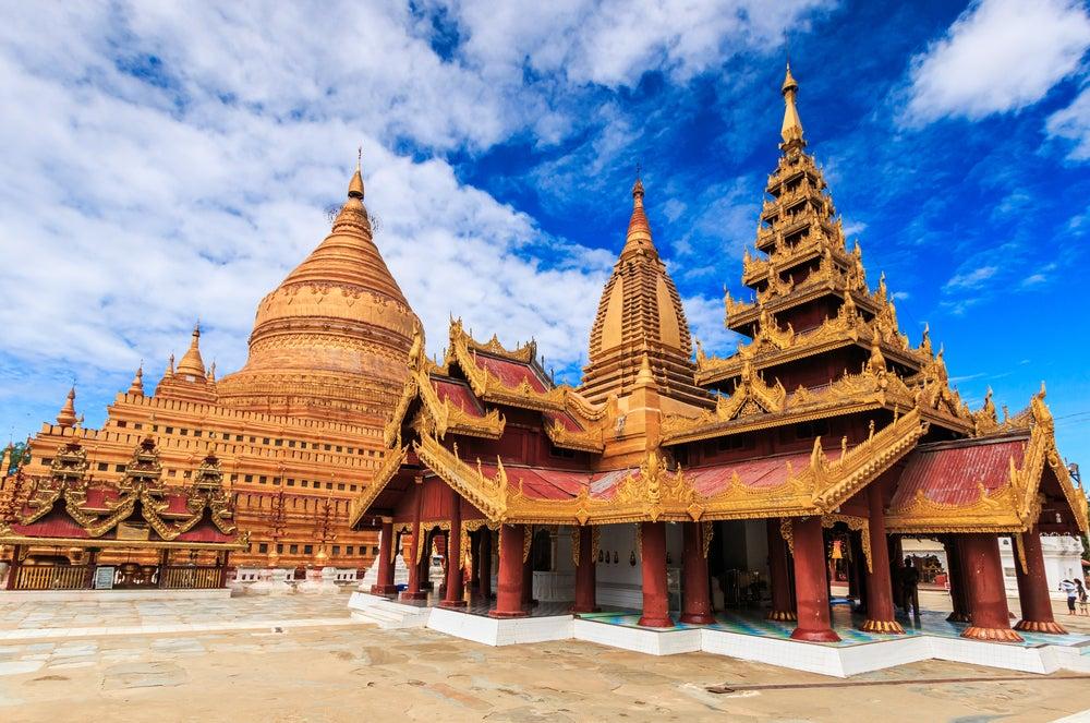 Estupa Shwe Zi Gon en Bagan