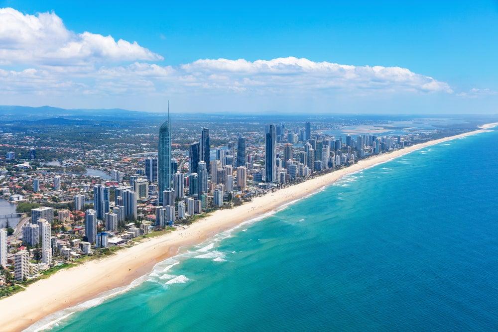 Vista de Gold Coast, una de las grandes ciudades de Australia
