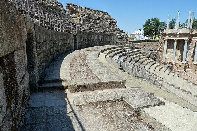 Grada del Teatro romano de Mérida