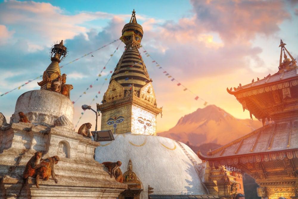 Templo de los Monos en Katmandú