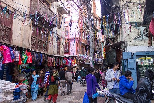 Barrio de Thammel en Katmandú