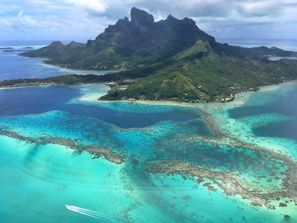 Vista aérea de Bora Bora