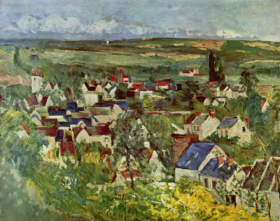 Vista de Auvers de Paul Cézanne