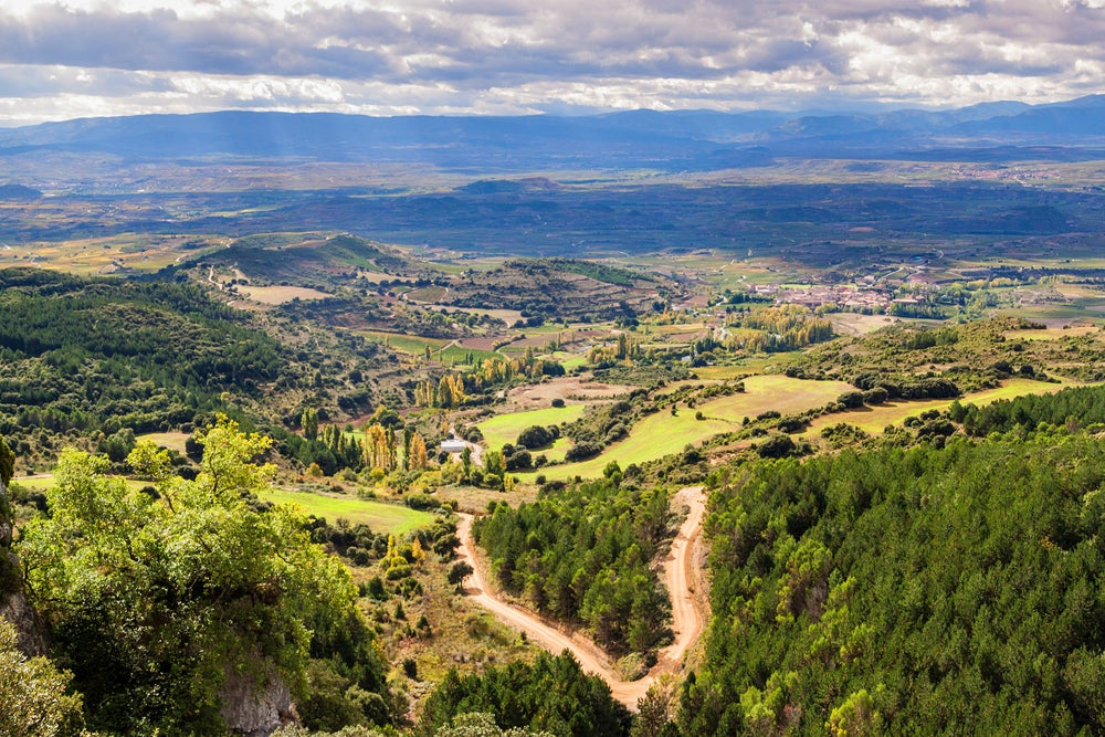 Paisaje de Ábalos en La Rioja