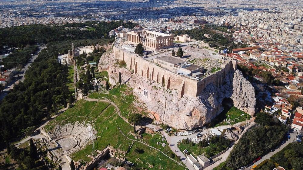 Vista de la Acrópolis de Atenas