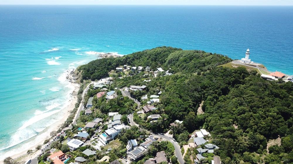Vista aérea de Byron Bay