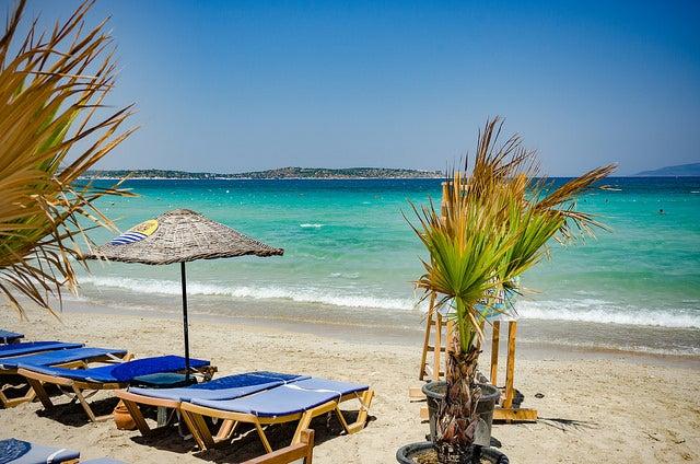 Playa de Alaçati en Turquía