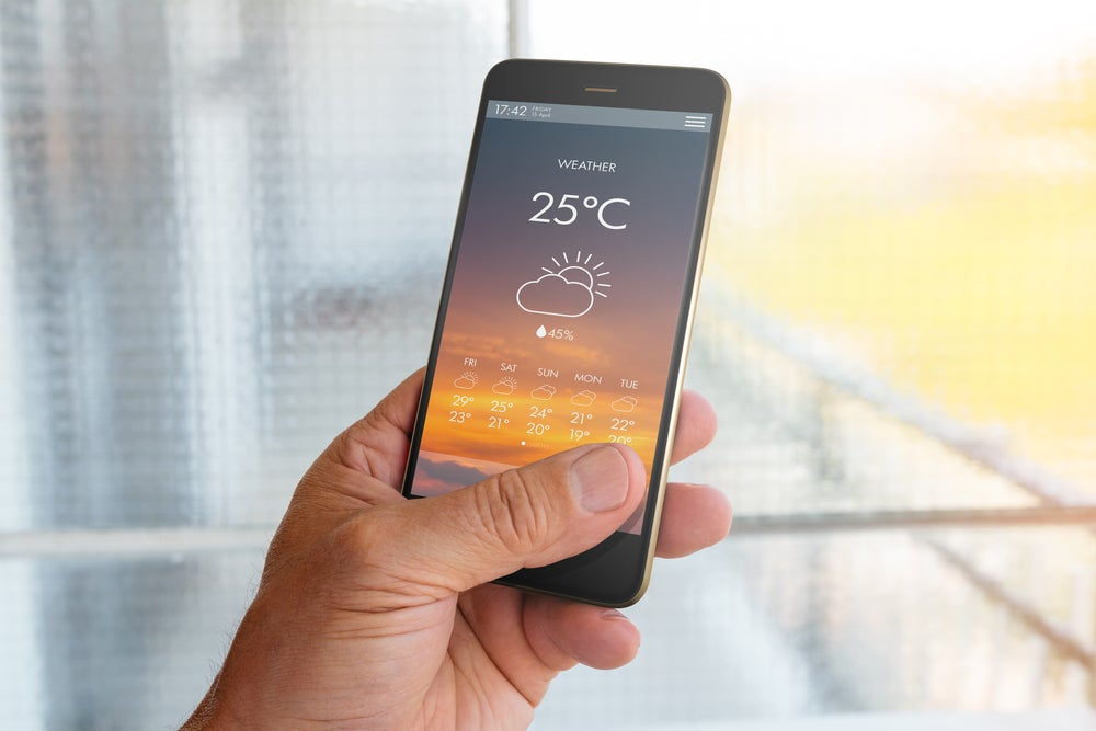 Aplicación de tiempo en un móvil
