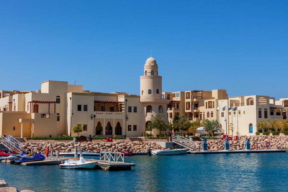 Puerto de Aqaba en Jordania