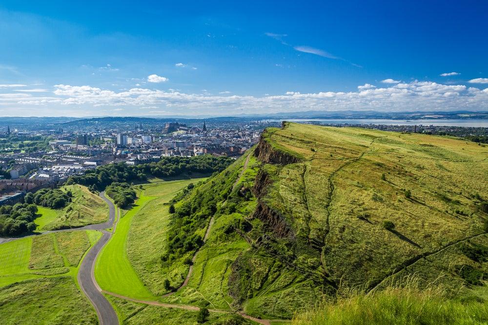 Vista desde Arthur's Seat en Edimburgo