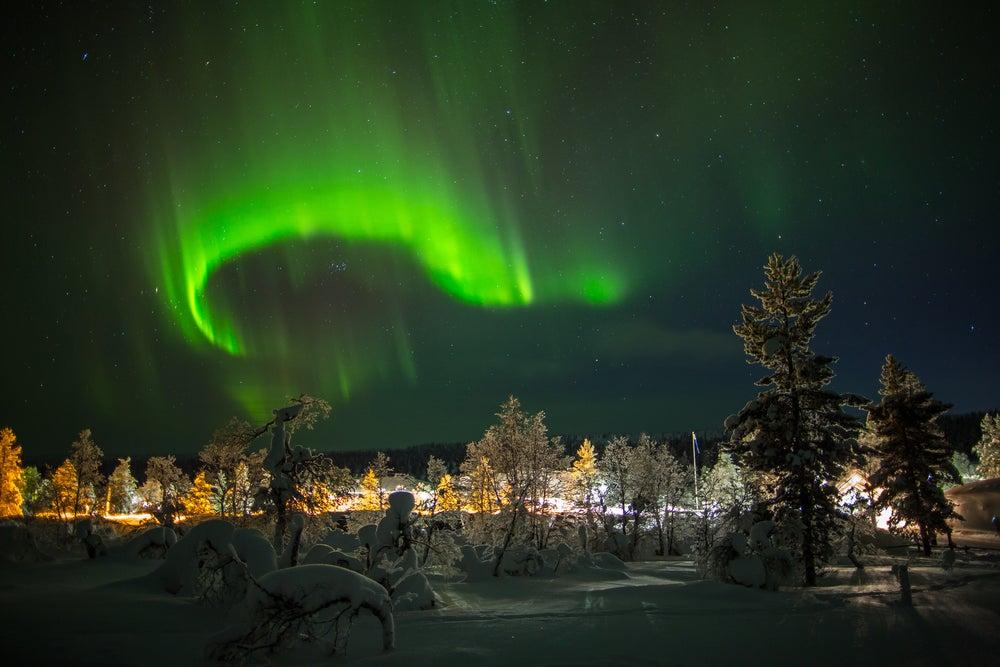 Aurora boreal en Ivalo