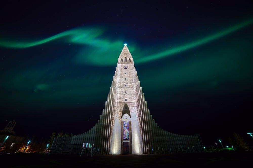 aurora boreal en Reikiavik