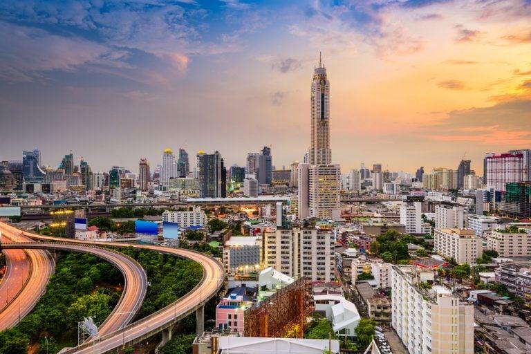 Subimos a la Baiyoke Tower II en Bangkok, Tailandia