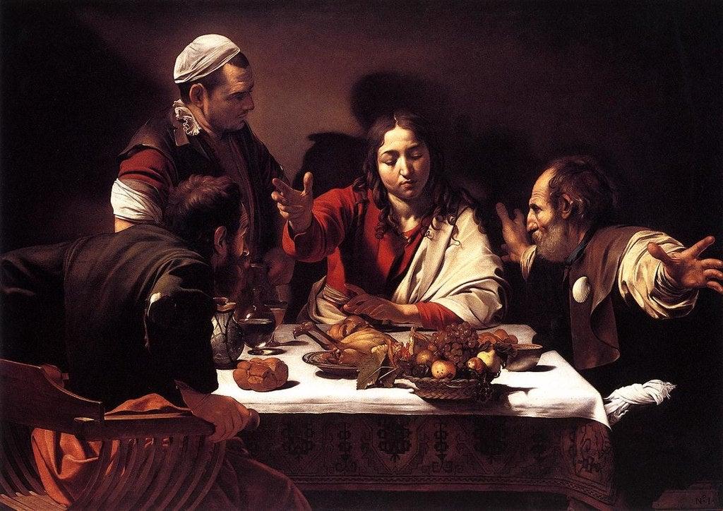 """""""Cena de Emaús"""" de Caravaggio"""