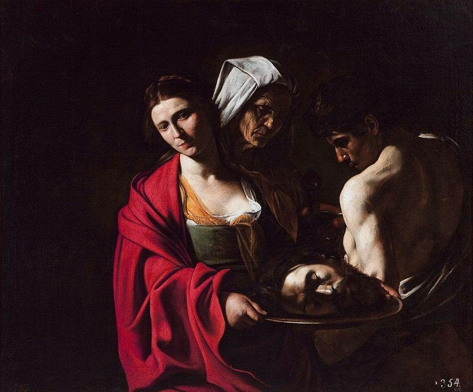 """""""Salomé con la cabeza de San Juan Bautista"""" de Carvaggio"""