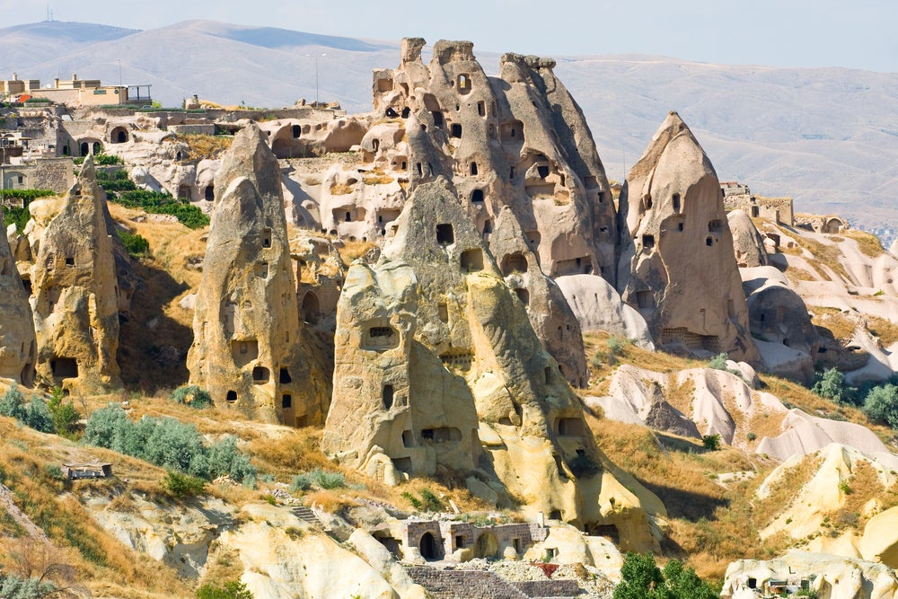 Casas trogloditas en Zelve en la Capadocia