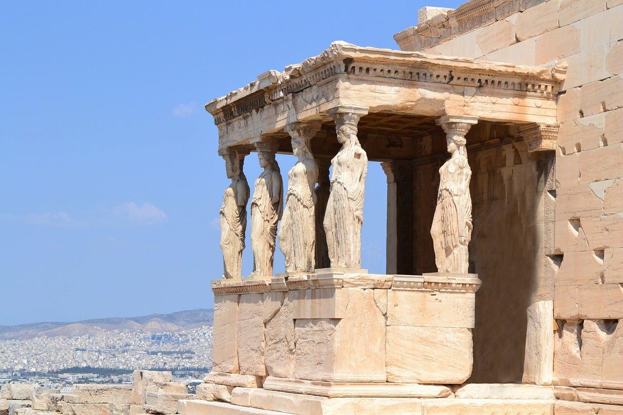 Cariátides en el Erecteion de la Acrópolis