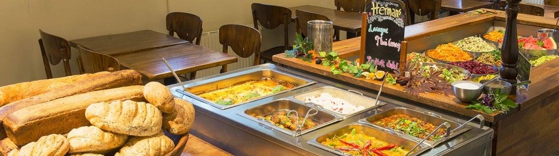 Buffet en Herman's Vegetariska Restaurang en Estocolmo