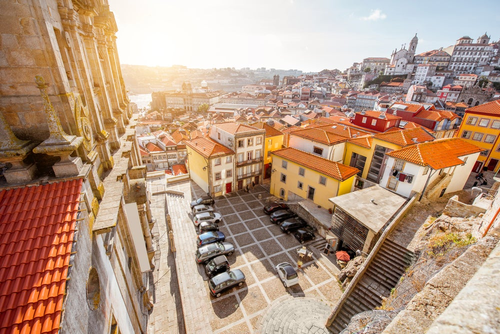 Vista desde la iglesia dos Grilos de Oporto