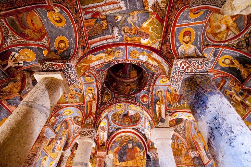 Iglesia en Göreme en la Capadocia