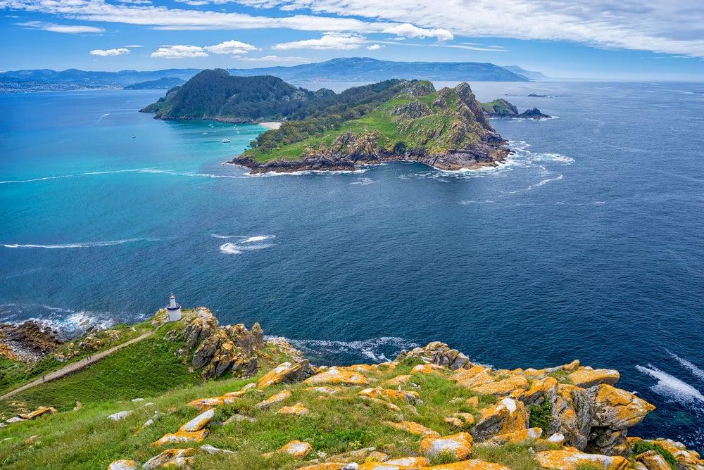 Islas Cíes en la ría de Vigo