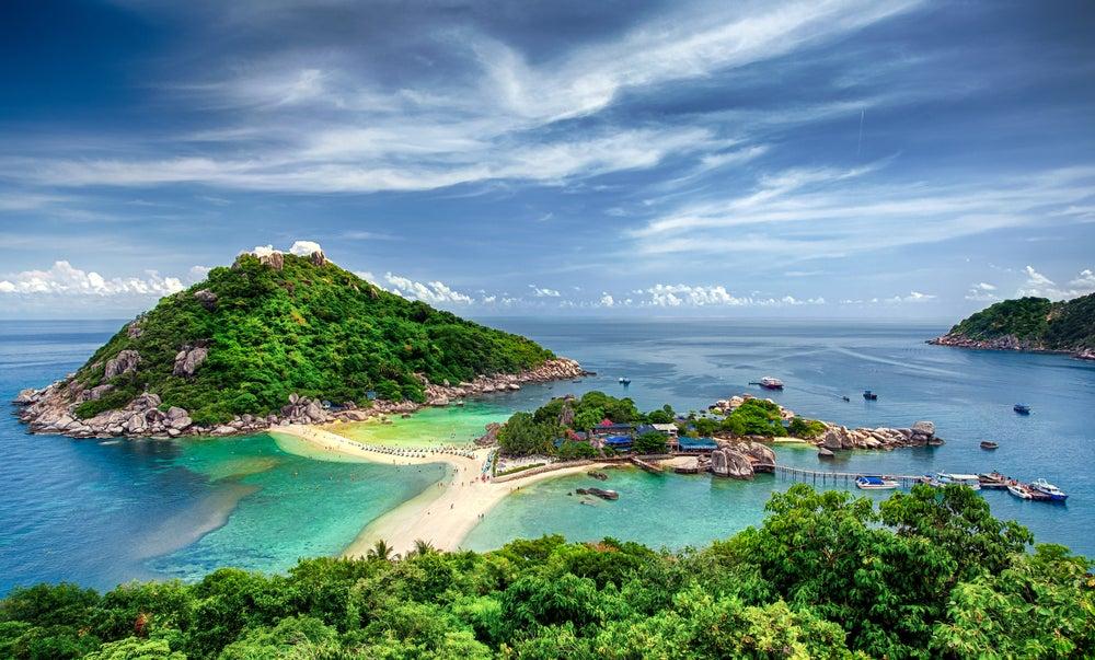 Vista de Koh Tao en Tailandia