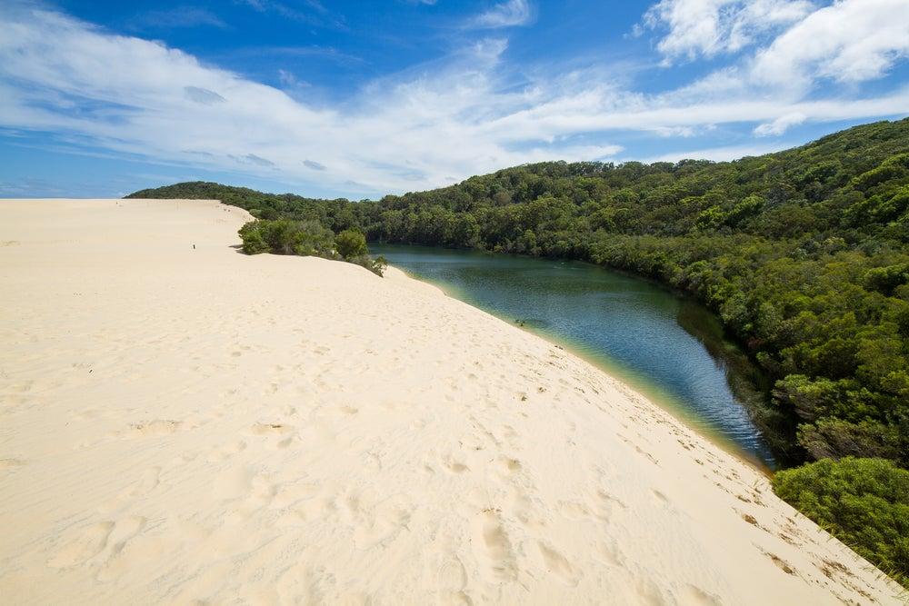 Lago Wabby en Fraser Island