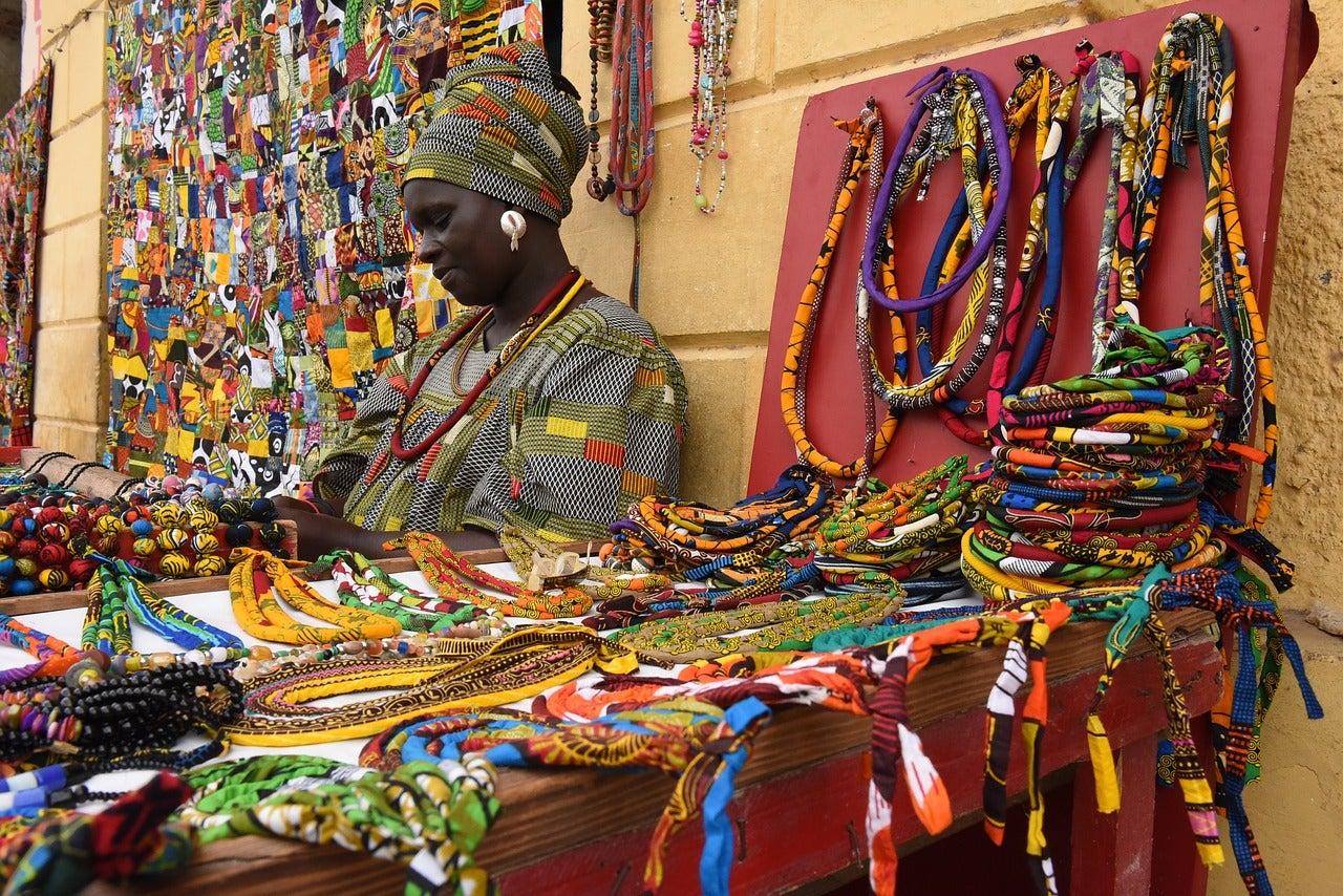 Mercadillo en Dakar