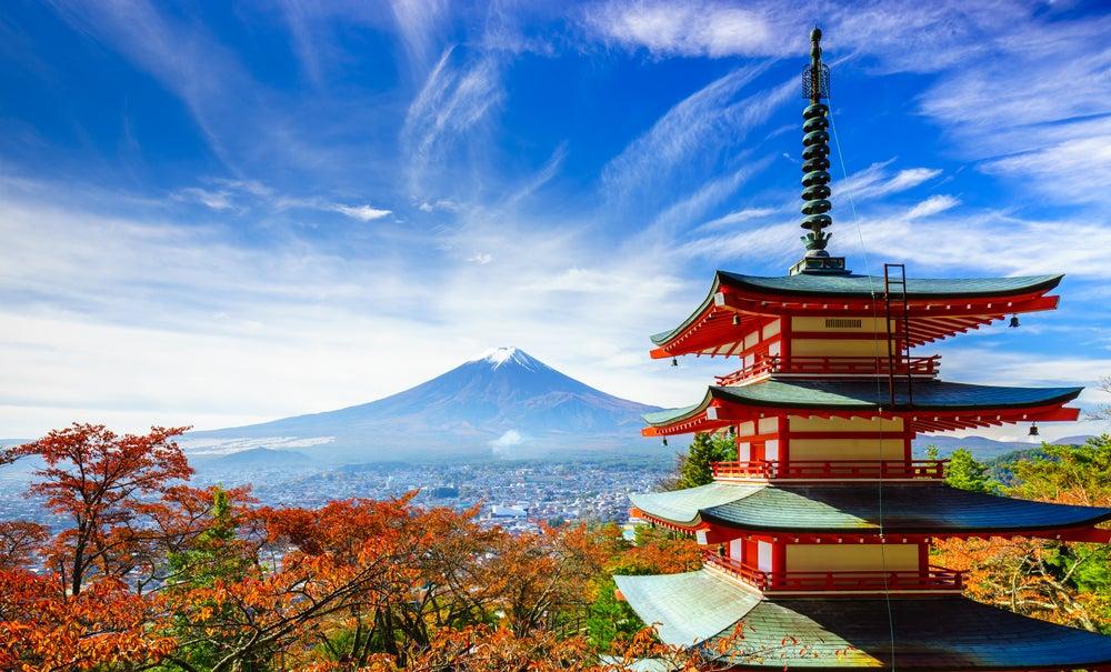 Monte Fuji uno de los lugares al visitar Japón