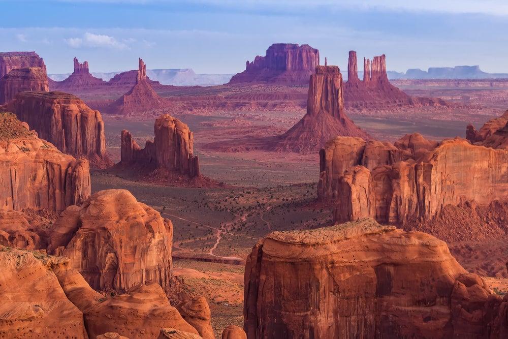 Monument Valley en el oeste de Estados Unidos