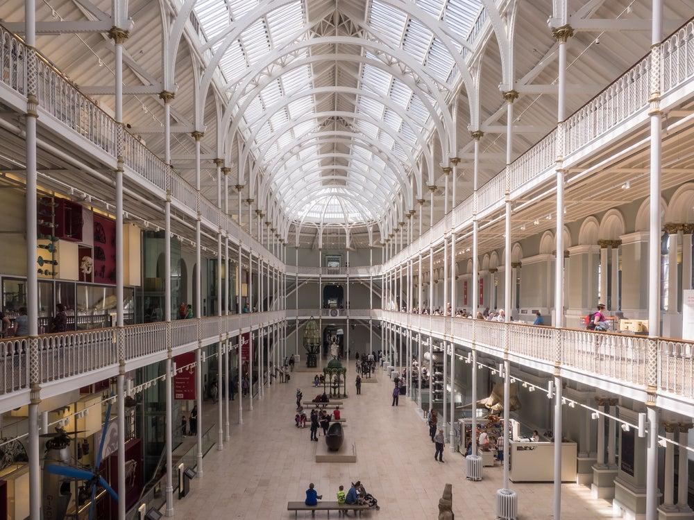 Interior del Museo Nacional de Escocia