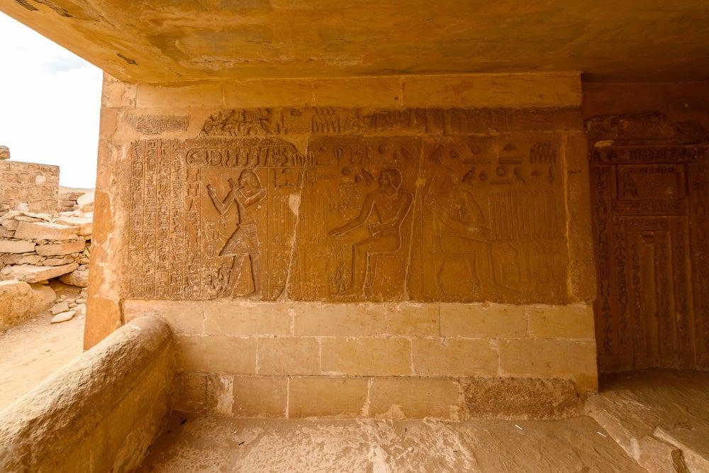 Frisos en e la necrópolis de Saqqara