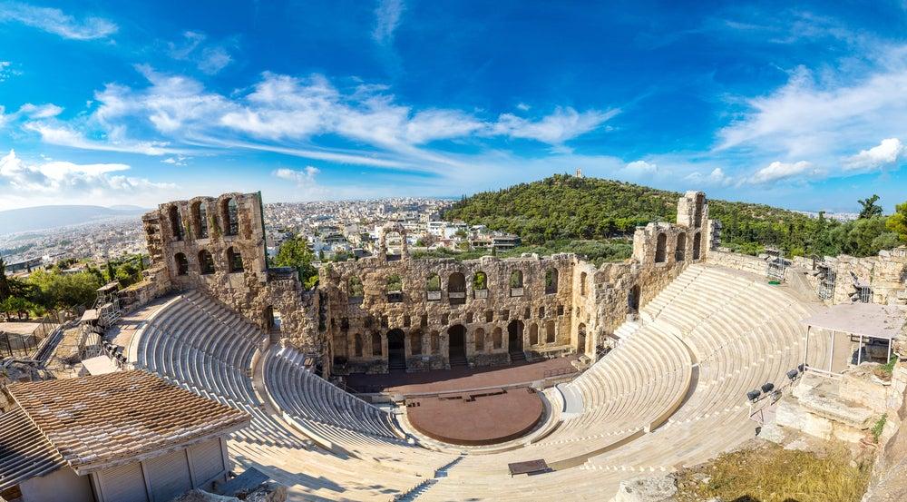 Odeón de Herodes Ático en la Acrópolis de Atenas
